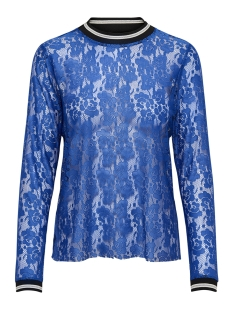 Only T-shirt onlLIA L/S LACE TOP JRS 15178702 Dazzling Blue/BLACK/WHITE
