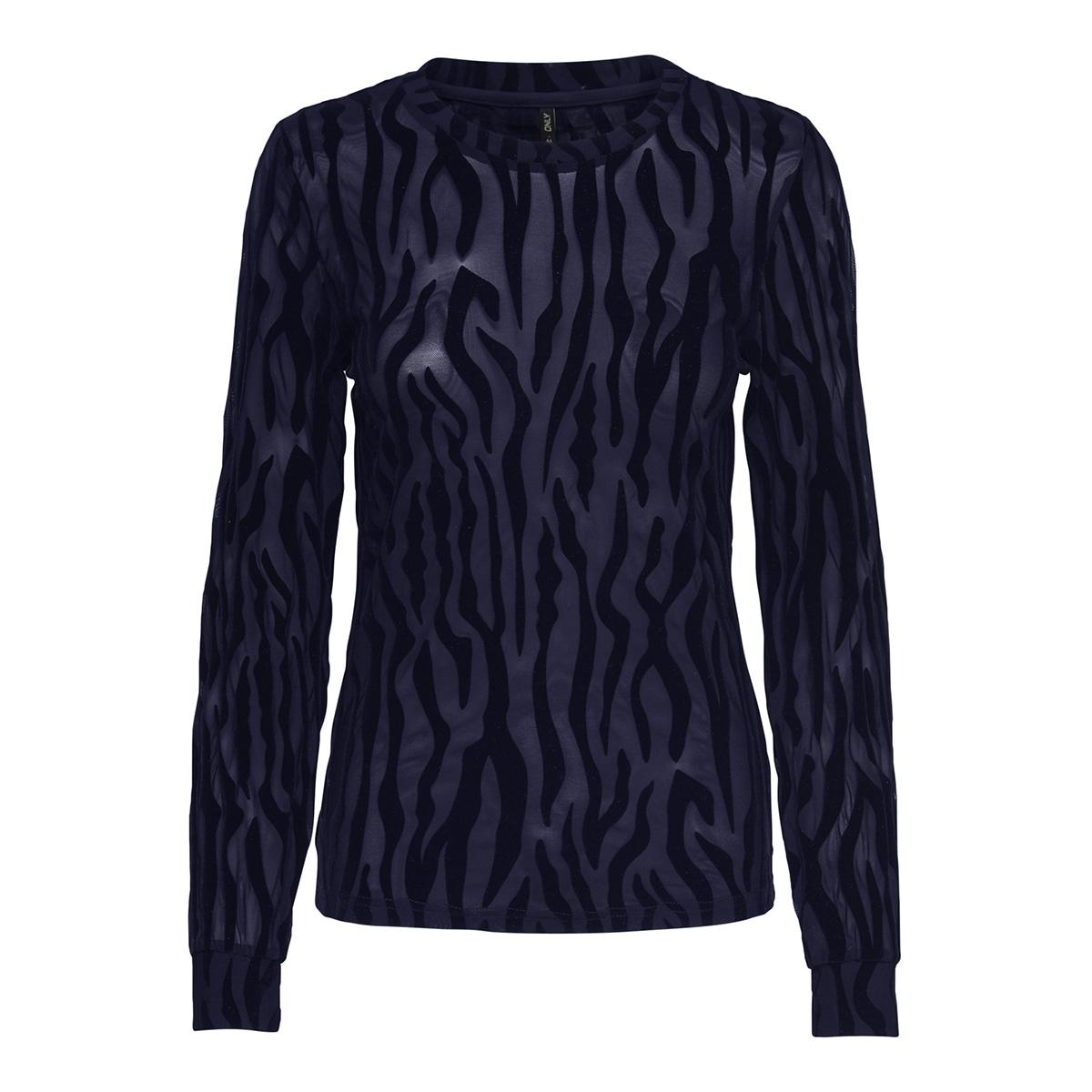 onlflikka l/s top jrs 15164503 only t-shirt blueprint