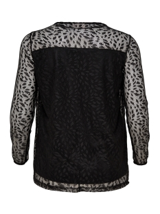 carleaf mesh ls top 15168790 only carmakoma t-shirt black