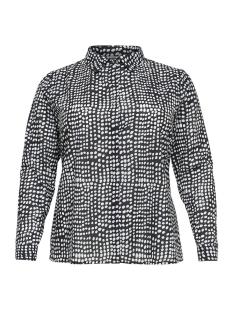 carbrooke dot ls shirt 15172913 only carmakoma blouse black/cloud danc