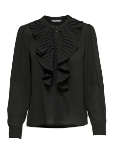 Only Blouse onlALICANTE PLEAT FLOUNCE SHIRT WVN 15165078 Black
