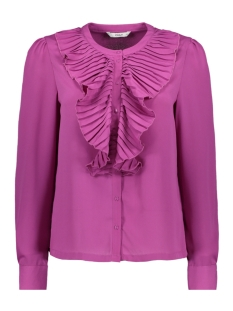onlalicante pleat flounce shirt wvn 15165078 only blouse purple wine