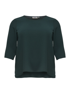Only Carmakoma T-shirt carLUX CECILIA 3/4 TOP SOLID 15170871 Green Gables