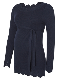 mleva l/s knit top o. 20009335 mama-licious positie trui navy blazer