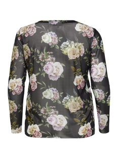 carrial ls o-neck top 15172916 only carmakoma t-shirt black/flowers