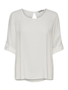 Only T-shirt onlNINE 3/4 FOLD UP TOP WVN NOOS 15173435 Cloud Dancer