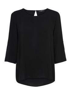 Only T-shirt onlNINE 3/4 FOLD UP TOP WVN NOOS 15173435 Black
