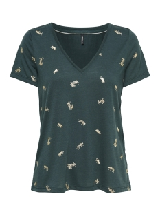 Only T-shirt onlISABELLA S/S SENSEI AOP BOX JRS 15168498 Green Gables/ tigers