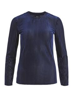 Object T-shirt OBJBELIA L/S FITTED TOP A AU 23028835 Sky Captain