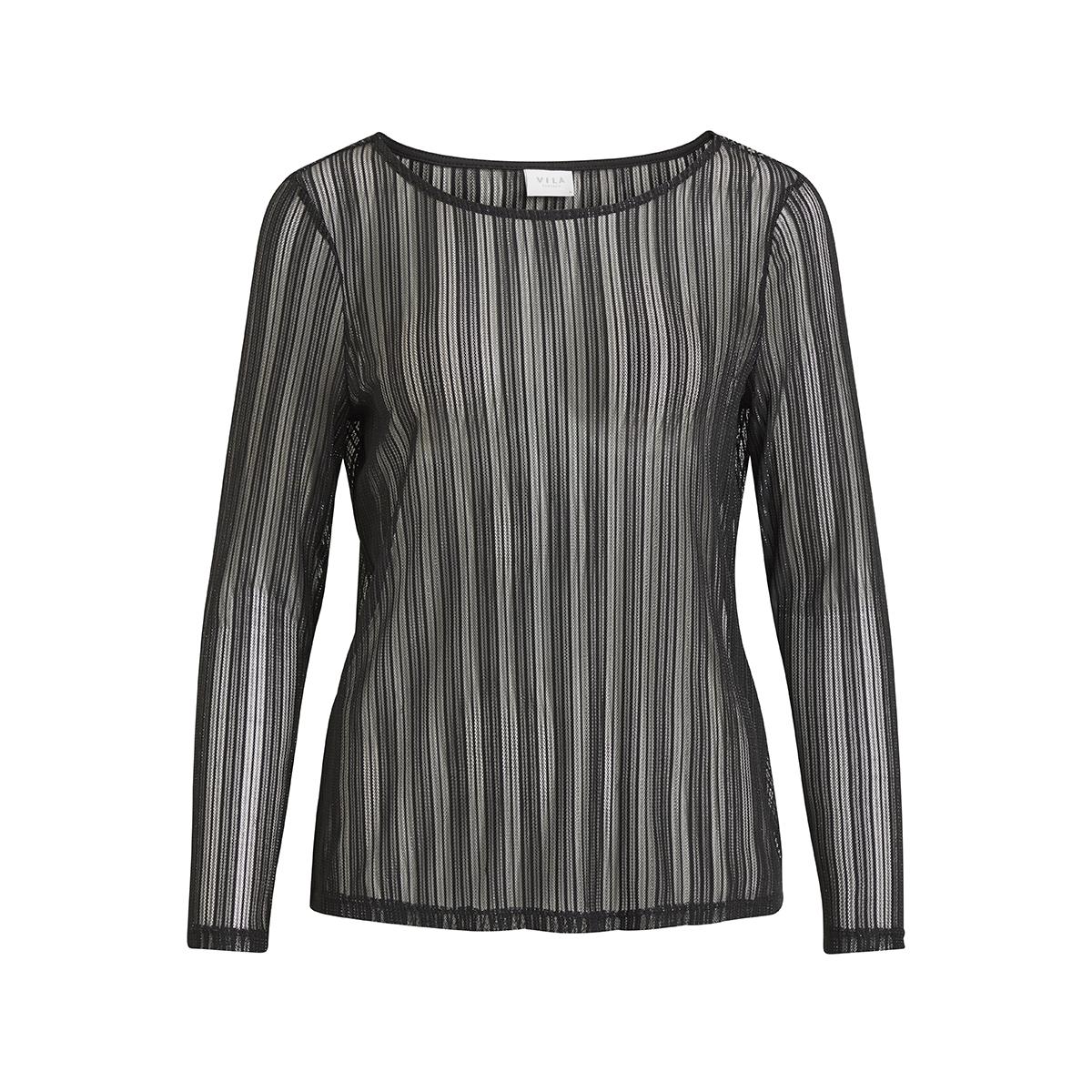 vimanja l/s top 14049205 vila t-shirt black/silver