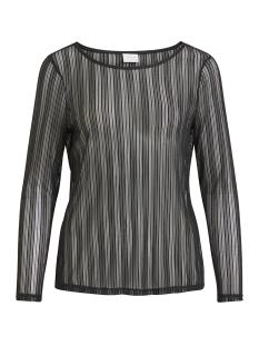 Vila T-shirt VIMANJA L/S TOP 14049205 Black/SILVER