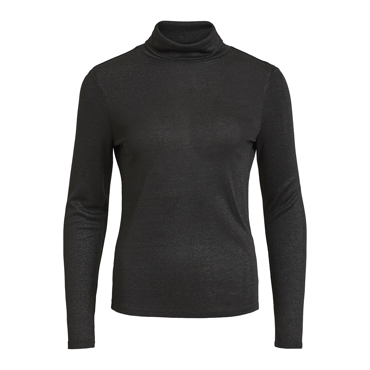 vifrola high neck l/s top cc 14049184 vila t-shirt black/lurex