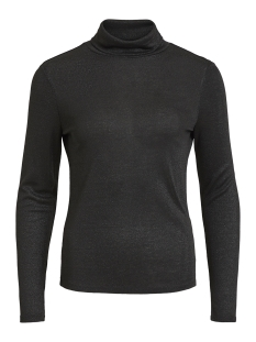 Vila T-shirt VIFROLA HIGH NECK L/S TOP CC 14049184 Black/LUREX