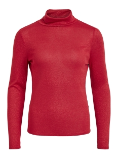 vifrola high neck l/s top cc 14049184 vila t-shirt barberry/lurex