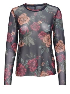 onlstine l/s o-neck top jrs 15168137 only t-shirt night sky/ opulent fl