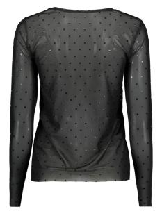 onlstine l/s o-neck top jrs 15168137 only t-shirt black/foil dot b