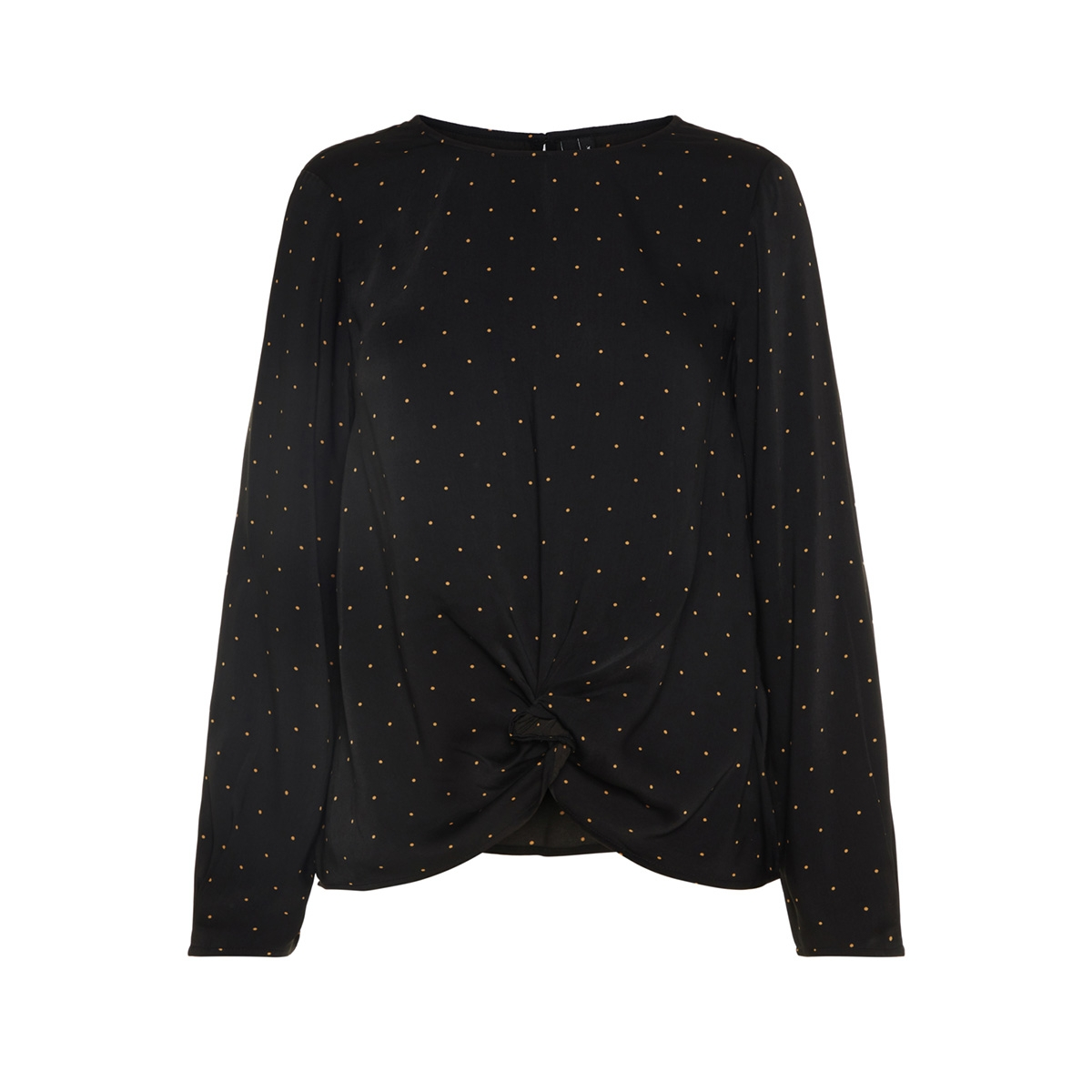 vmstanly knot l/s top exp 10210477 vero moda blouse black/small toba