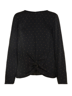 Vero Moda Blouse VMSTANLY KNOT L/S TOP EXP 10210477 Black/SMALL TOBA