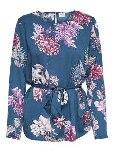 Jacqueline de Yong Blouse JDYHILDA L/S BELT BLOUSE WVN 15168394 Legion Blue/LARGE FLOWER