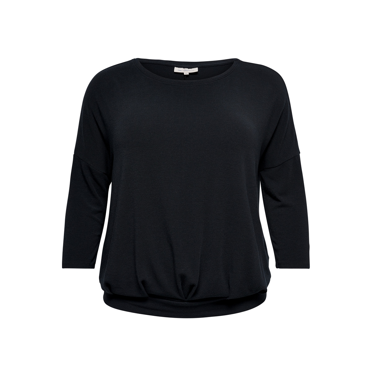 carmille pleated 3/4 top 15171653 only carmakoma sweater night sky