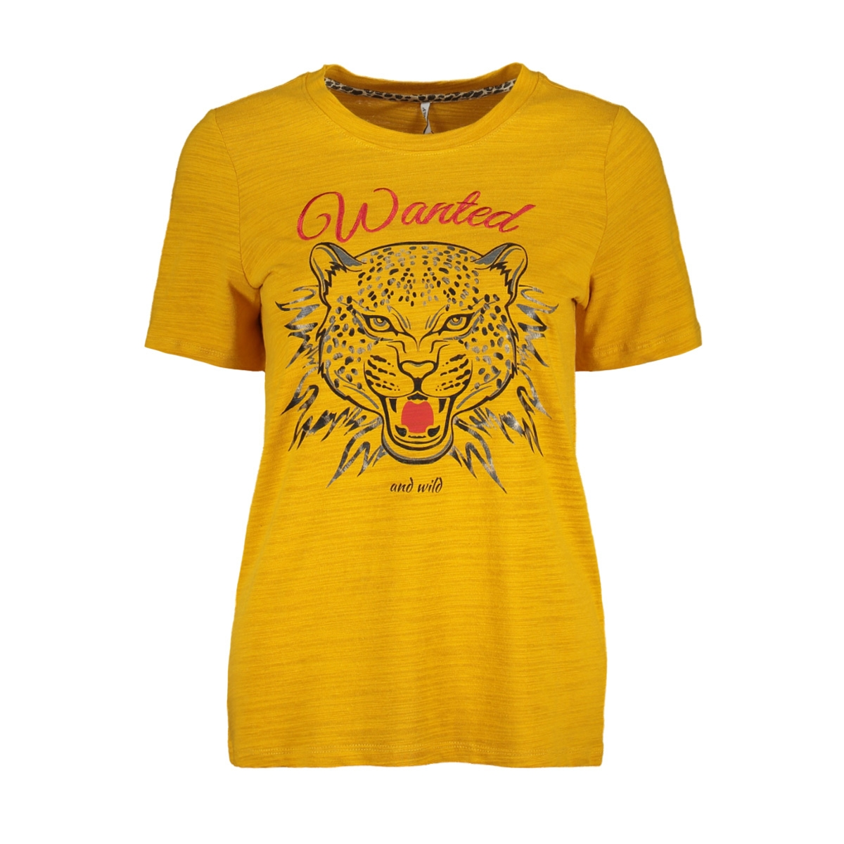 onlkindra s/s wanted top box jrs 15168493 only t-shirt golden yellow/tiger