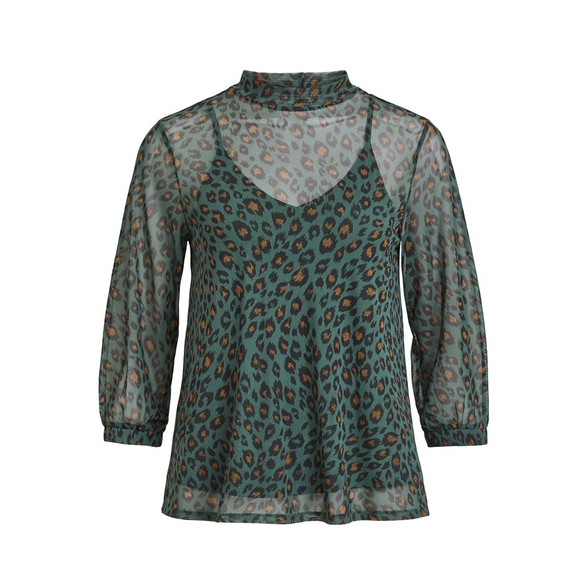 vilastra 3/4 t-shirt/pb 14049881 vila t-shirt garden topiary/tiana