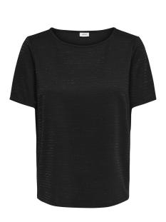Jacqueline de Yong T-shirt JDYGLITTER S/S BOATNECK TOP EXP 15170851 Black/LUREX