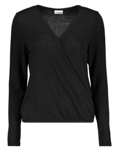 Noisy may Trui NMMETROPOL L/S WRAP TOP 7 27004415 Black