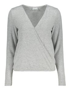 Noisy may Trui NMMETROPOL L/S WRAP TOP 7 27004415 Light Grey Melange