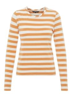 Vero Moda T-shirt VMSONIA LS O-NECK GA 10207935 Golden Nugget/SNOW WHITE