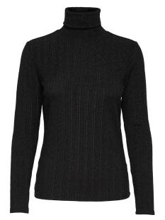 Jacqueline de Yong T-shirt JDYLURA L/S ROLL NECK JRS 15162782 Black/LUREX