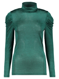 Vero Moda T-shirt VMTERESE LS HIGH NECK TOP 10207641 Alpine Green/MELANGE