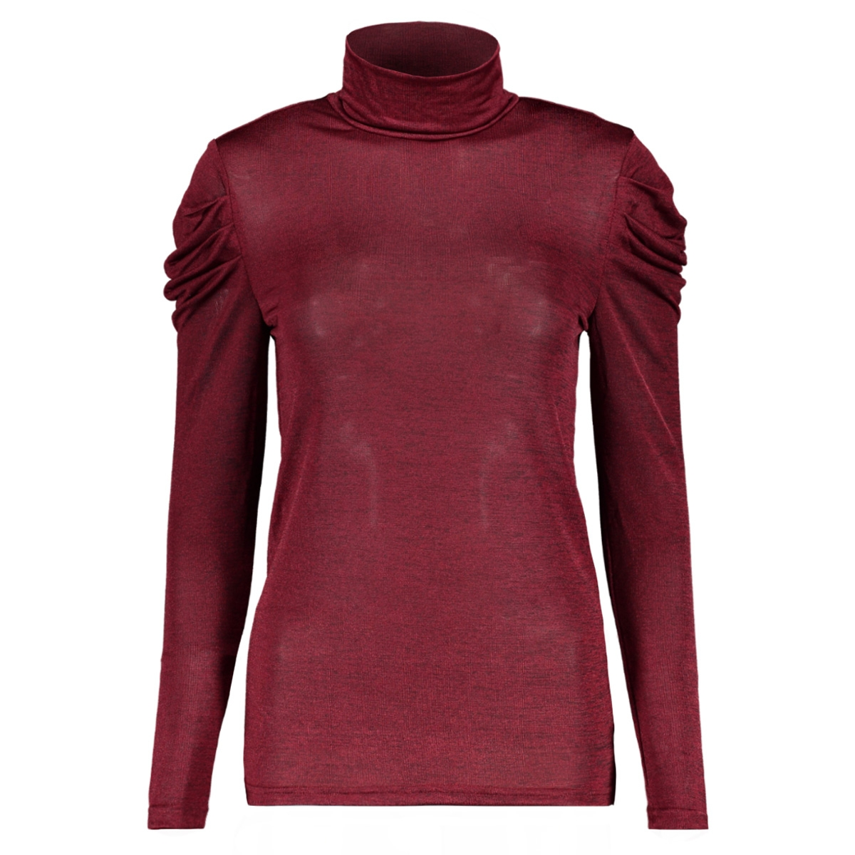 vmterese ls high neck top 10207641 vero moda t-shirt rumba red/melange