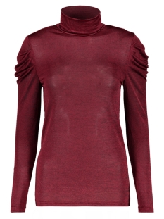 Vero Moda T-shirt VMTERESE LS HIGH NECK TOP 10207641 Rumba Red/MELANGE