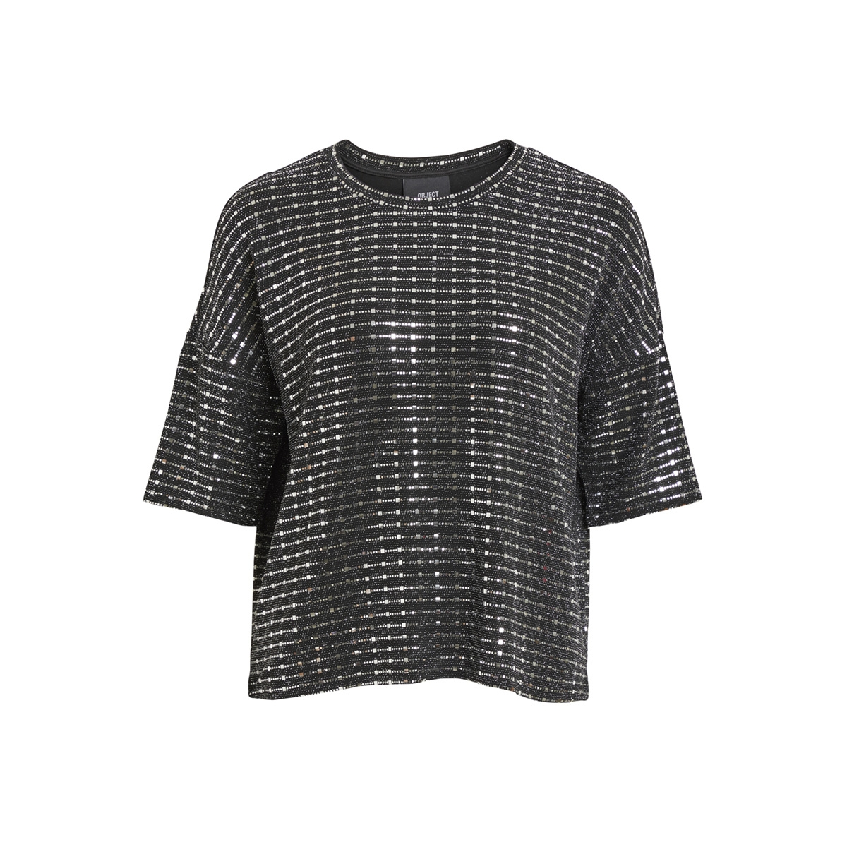 objsharly 2/4 top 100 23028392 object t-shirt black