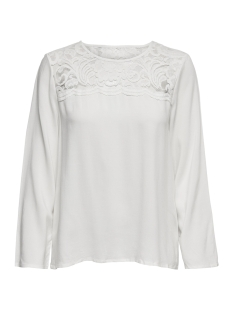 Jacqueline de Yong Blouse JDYHAZE 7/8 LACE BLOUSE WVN 15166401 Cloud Dancer/DTM LACE