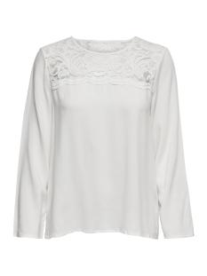 jdyhaze 7/8 lace blouse wvn 15166401 jacqueline de yong blouse cloud dancer/dtm lace
