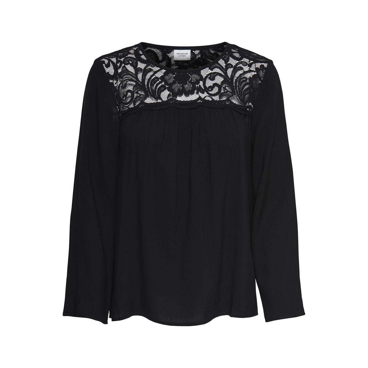 jdyhaze 7/8 lace blouse wvn 15166401 jacqueline de yong blouse black/dtm lace