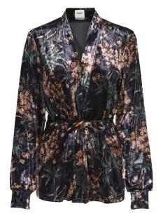 onlalex printed velvet blazer pnt 15168850 only blazer black/aop