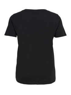 carblack ss tee 15168572 only carmakoma t-shirt black
