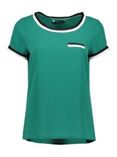 Vero Moda T-shirt VMSASHA SS PANEL TOP 10216853 Alpine Green/BLACK