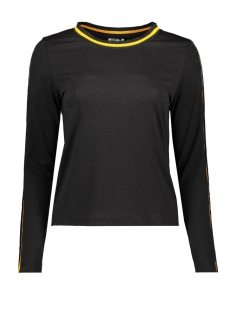 nmmilla  l/s  top x2 27006935 noisy may t-shirt black/ yellow