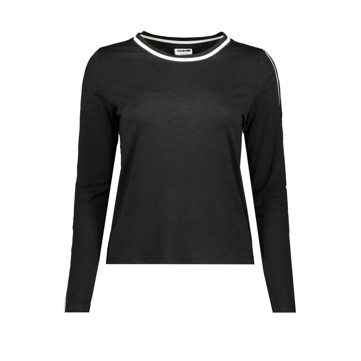 nmmilla  l/s  top x2 27006935 noisy may t-shirt black/ white