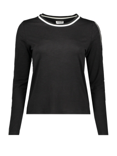 Noisy may T-shirt NMMILLA  L/S  TOP X2 27006935 Black/ White
