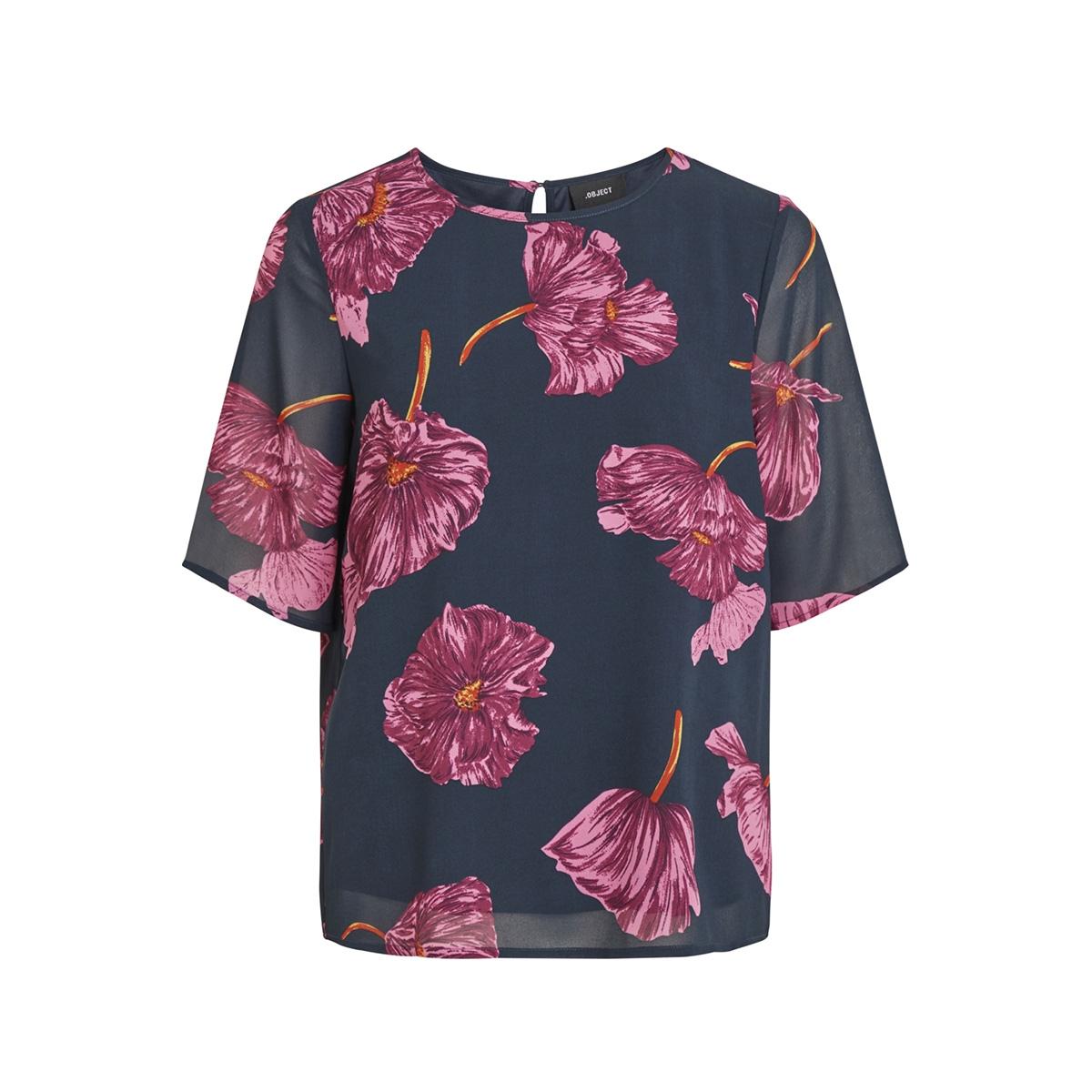 objmarquita 2/4 top a au 23029007 object t-shirt sky captain/floral