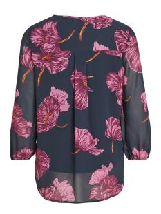 objmarquita 3/4 top a au 23029002 object blouse sky captain/floral