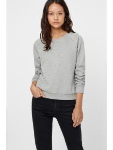 vmnatalia l/s sweat o18 10212545 vero moda sweater light grey melange