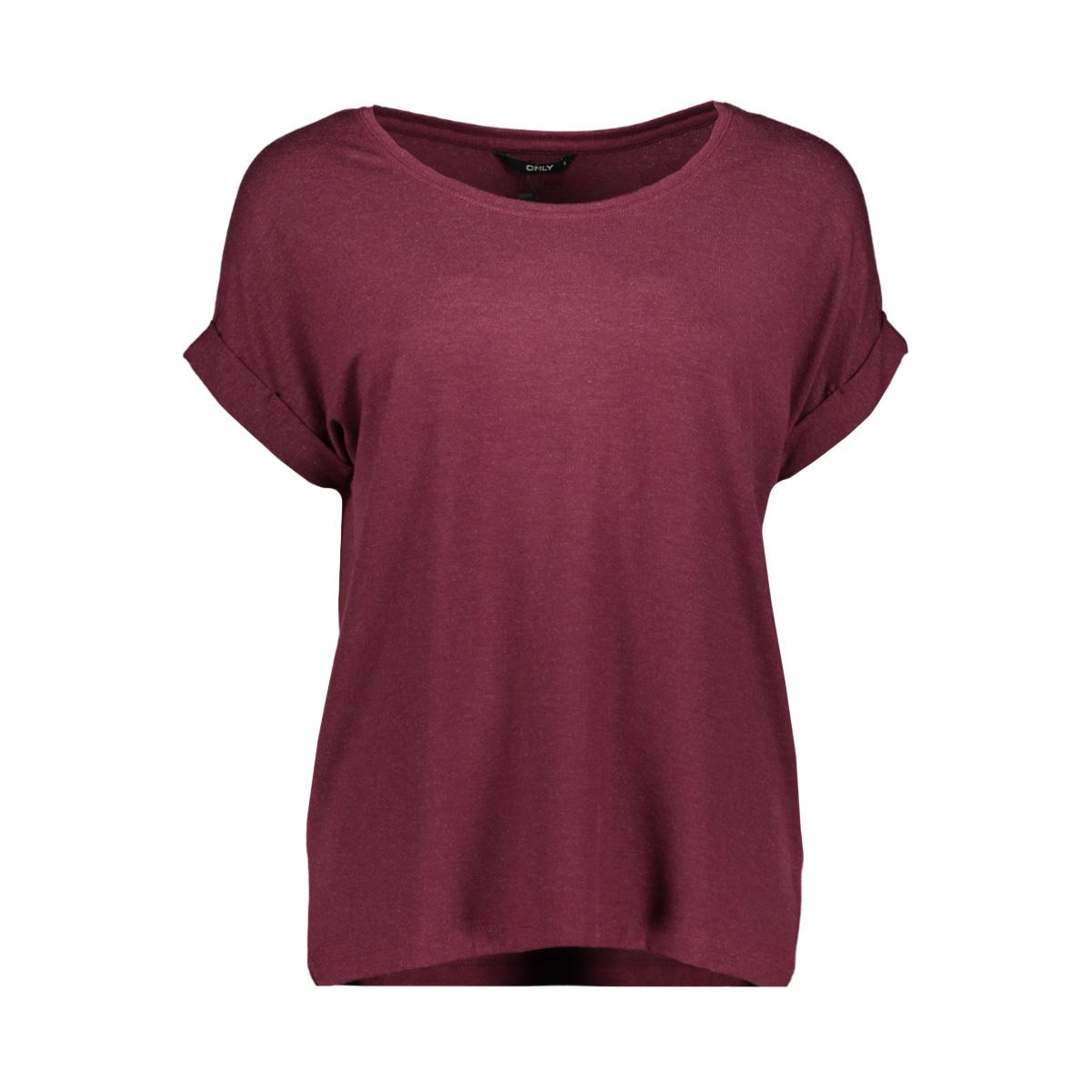 onlmoster s/s o-neck top noos jrs 15106662 only t-shirt windsor wine