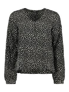 Vero Moda T-shirt VMKISS L/S  V-NECK MIDI TOP D2-1 WV 10209634 Black/KISS BLACK