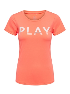 Only Play Sport shirt onpLUNE SS TRAINING TEE PRS 15164913 Neon Orange/W. WHITE
